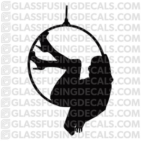 Aerials - Hoop/Lyra 8 - Glass Fusing Decal for Glass or Ceramics