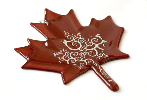 Maple Leaf Glass Fusing Pattern