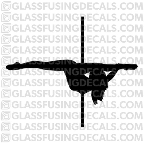 Dance - Pole Dance 3 - Glass Fusing Decal for Glass or Ceramics