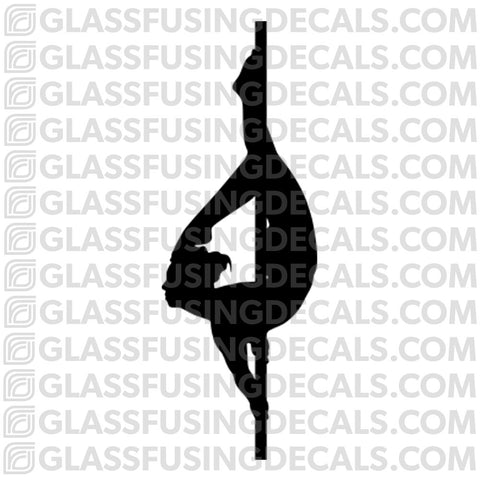 Dance - Pole Dance 1 - Glass Fusing Decal for Glass or Ceramics
