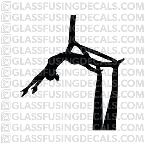Aerials - Silks 1 - Glass Fusing Decal for Glass or Ceramics