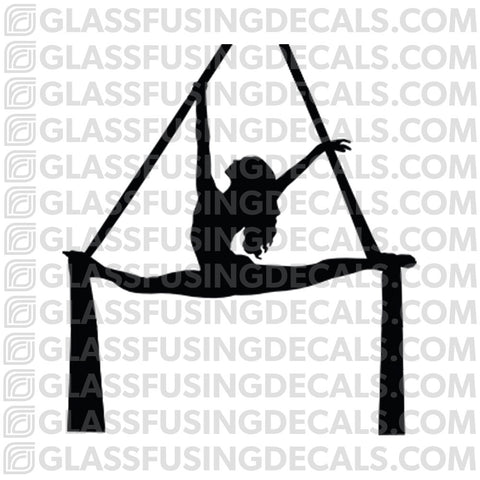 Aerials - Silks 3 - Glass Fusing Decal for Glass or Ceramics
