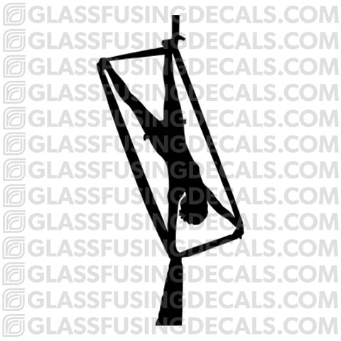 Aerials - Silks 5 - Glass Fusing Decal for Glass or Ceramics