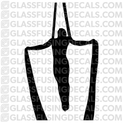 Aerials - Silks 6 - Glass Fusing Decal for Glass or Ceramics