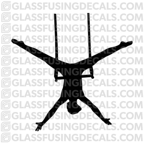 Aerials - Trapeze 2 - Glass Fusing Decal for Glass or Ceramics