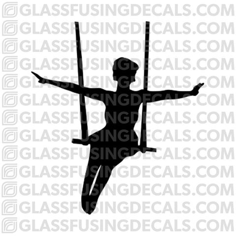 Aerials - Trapeze 3 - Glass Fusing Decal for Glass or Ceramics