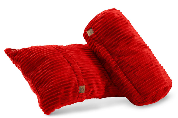 Comfyzak pillows - set-corduroy-flame-red