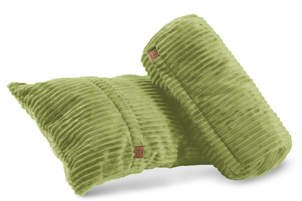 Corduroy Pillows Set - Lime