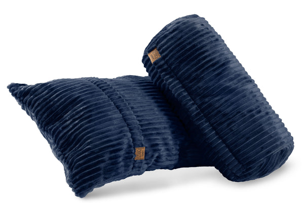Corduroy Pillows Set - Royal Blue