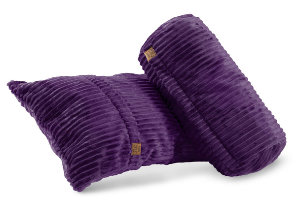 Comfyzak pillows - set-corduroy-royal-purple