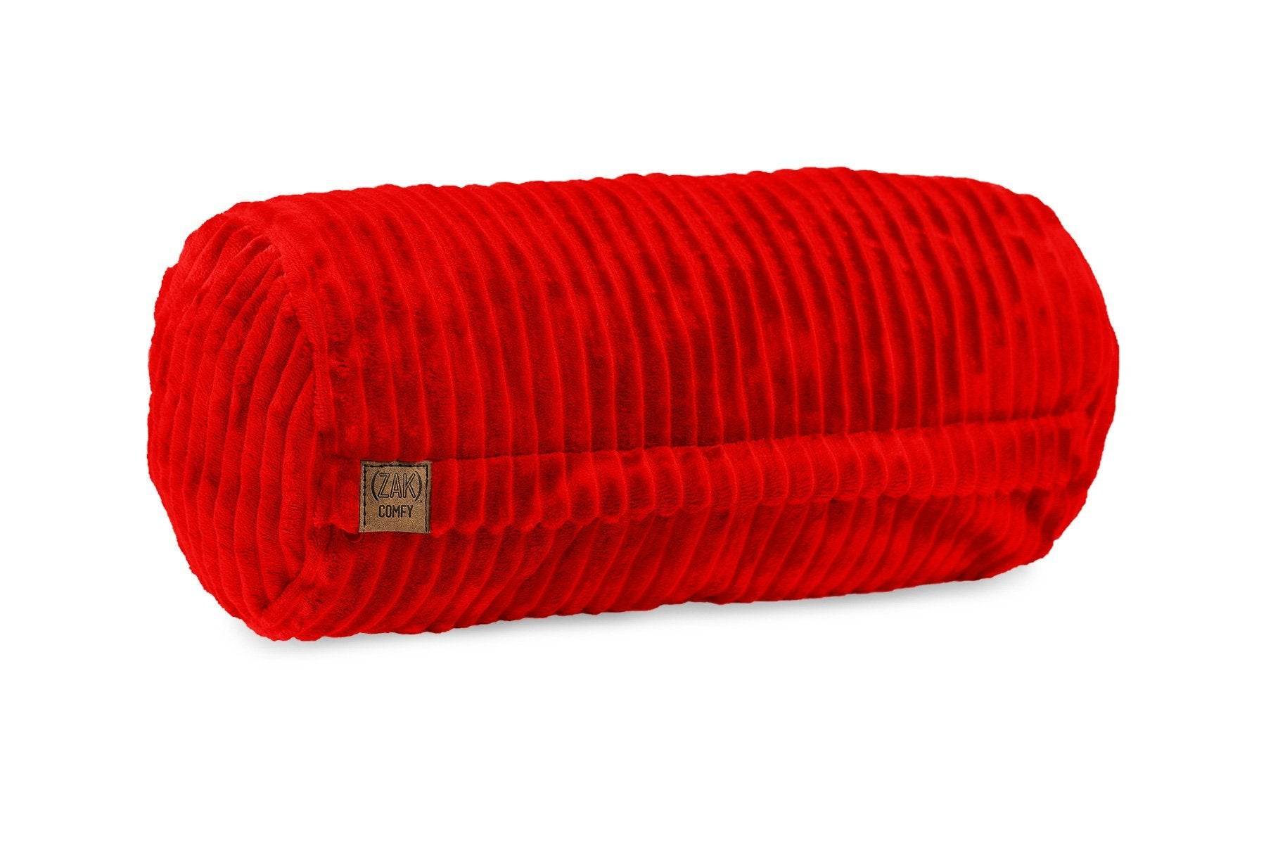 Comfyzak pillows - neck-roll-corduroy-flame-red