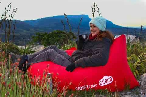 Comfyzak CLOUD air lounger - Red mountains