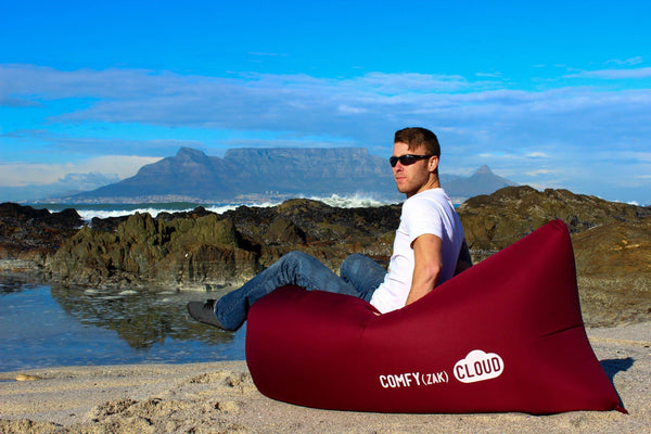 Comfyzak CLOUD air lounger - Merlot beach