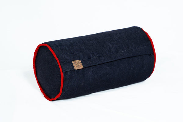 Comfyzak-Pillows-Roll-Denim-Red