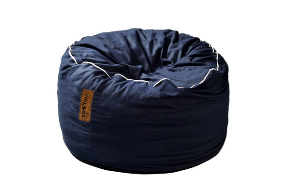 Comfyzak Beanbags - Denim-white-piping
