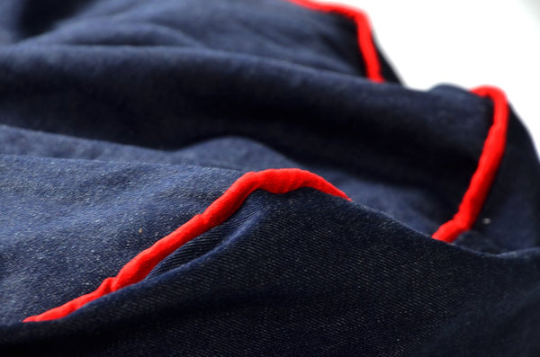 Comfyzak Beanbag - Denim with red piping