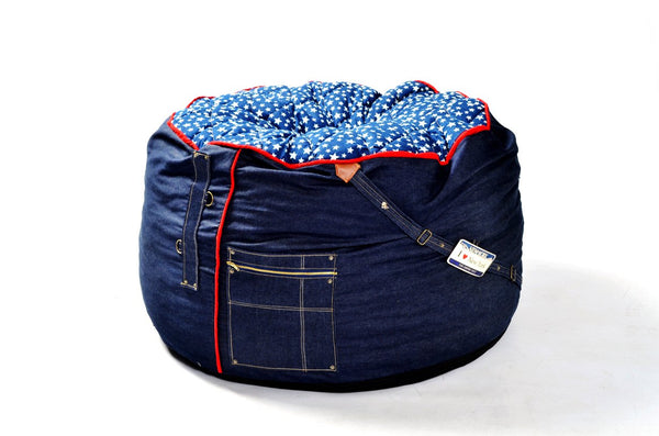 Comfysak Beanbag - RAD Denim in stars and stripes 03