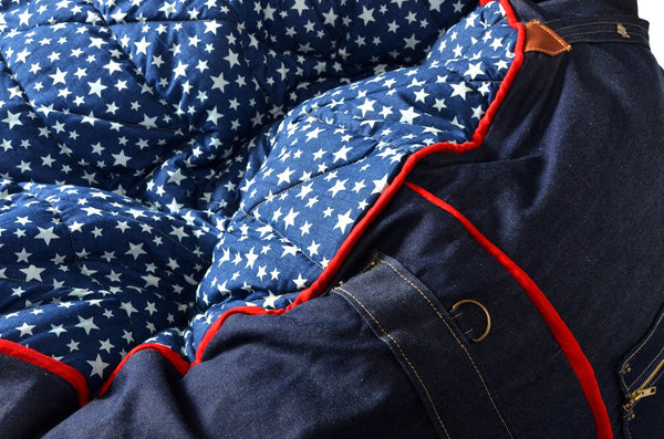 Comfysak Beanbag - RAD Denim in stars and stripes 04