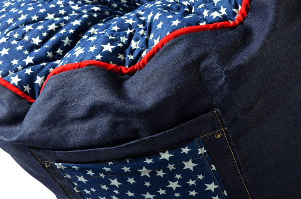 Comfysak Beanbag - RAD Denim in stars and stripes 05