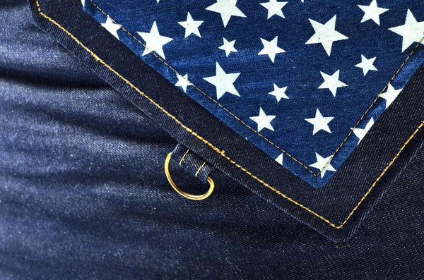 Comfysak Beanbag - RAD Denim stars pocket