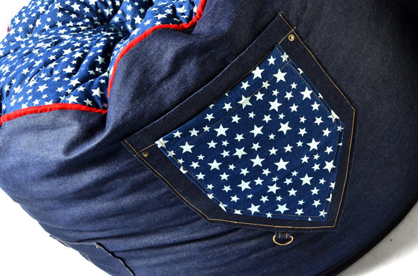 Comfyzak Beanbag - RAD Denim stars pocket 02