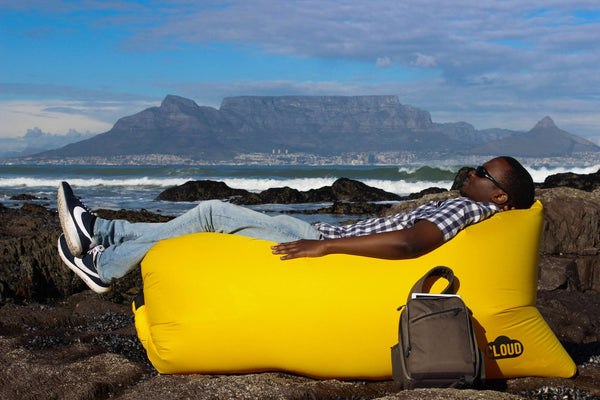 Comfysak CLOUD air lounger - Yellow rocks