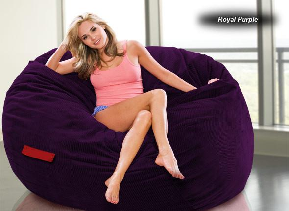 Comfyzak Beanbag - Corduroy Royal Purple