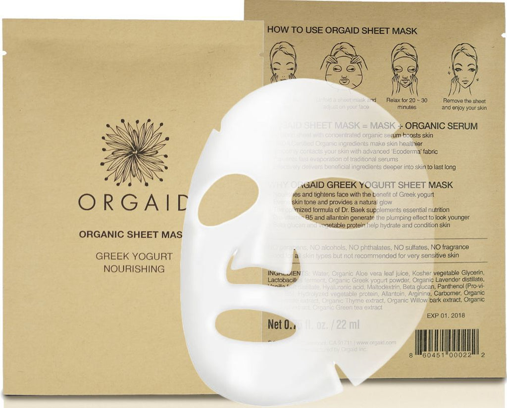 Orgaid Greek Yogurt and Nourishing Organic Sheet Mask