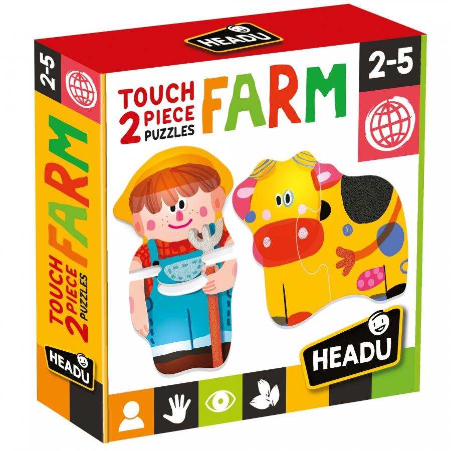 TOUCH 2 PIECE PUZZLES FARM