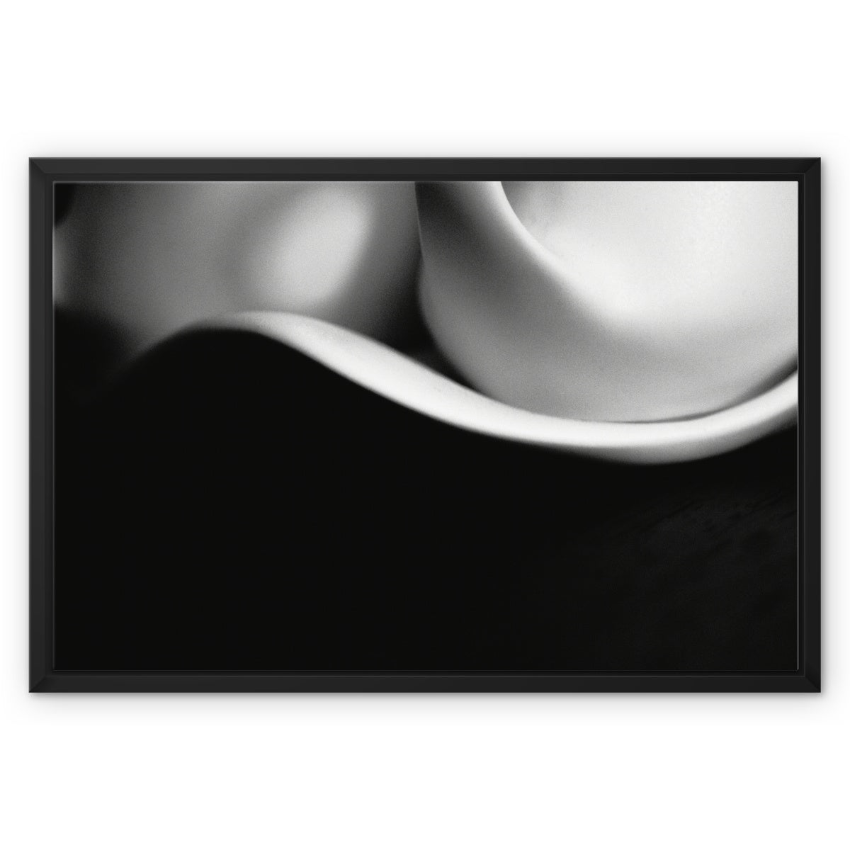 Curves-02 Framed Canvas