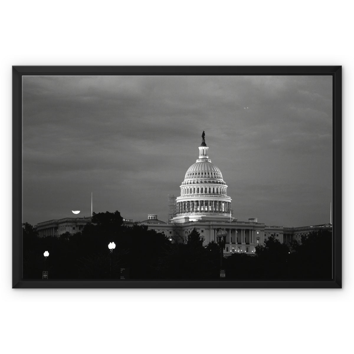 Capitol-01 Framed Canvas