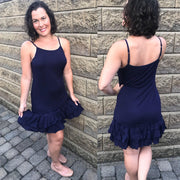 Navy Blue Double Ruffle Dress Extender