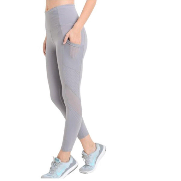 MONO B Lavender High Rise Yoga Leggings with Pockets - dalia + jade
