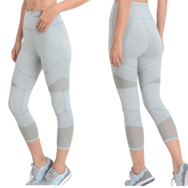MONO B Mint Capri Yoga Leggings