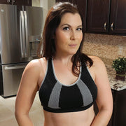 Mono B AT2575 Black Seamless Padded Sports Bra