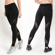 MONO B AP1526 Black Mesh Yoga Leggings