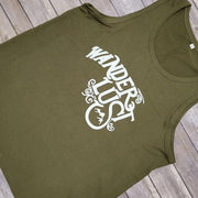 Green Wanderlust Sleeveless Tank Top 630