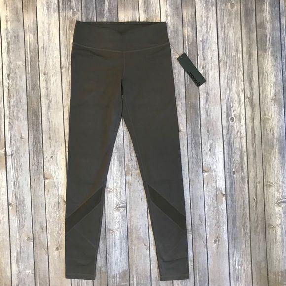 Mono B Brown Mesh Yoga Leggings - AP1324 - dalia + jade