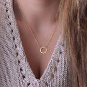 Gold Circle Minimalist Necklace - dalia + jade
