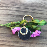 Karma - Mixed Metal Circle Keychain - dalia + jade