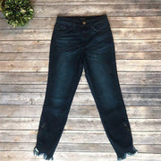 CLEARANCE!!! Kancan Dark Wash Ankle Zipper Skinny Jeans - KC9131D - dalia + jade