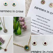 Birthstone Bullet Earrings with Swarovski Crystals - dalia + jade