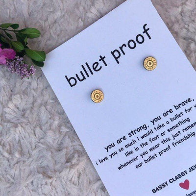 Best Seller - Bullet Proof - Bullet Stud Earrings - dalia + jade