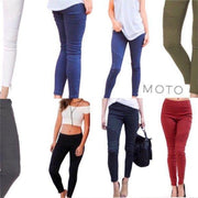 Marsala Motto Jeggings Moto Leggings Denim Pant - dalia + jade
