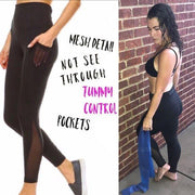 MONO B APH1674 Black High Rise Yoga Leggings - dalia + jade