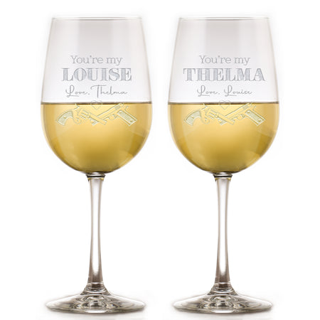 You're My Thelma, You're My Louise Wine Glass Set