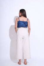 Load image into Gallery viewer, Denim Stitch Natural Pants