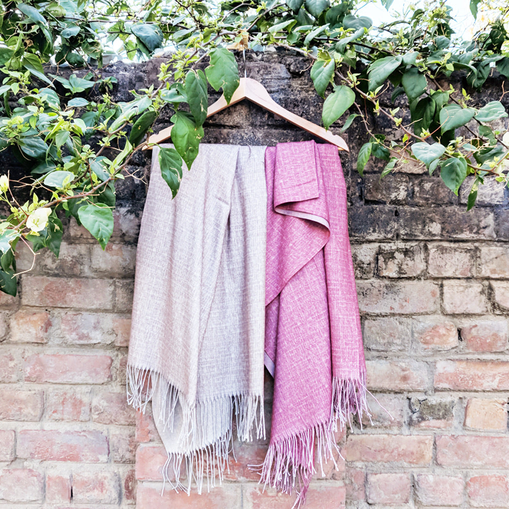 Wool and Pashmina Long Scarf