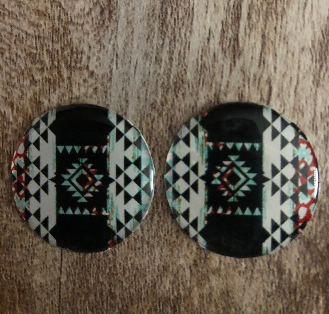 Handmade Black Tribal 1 Inch Cab