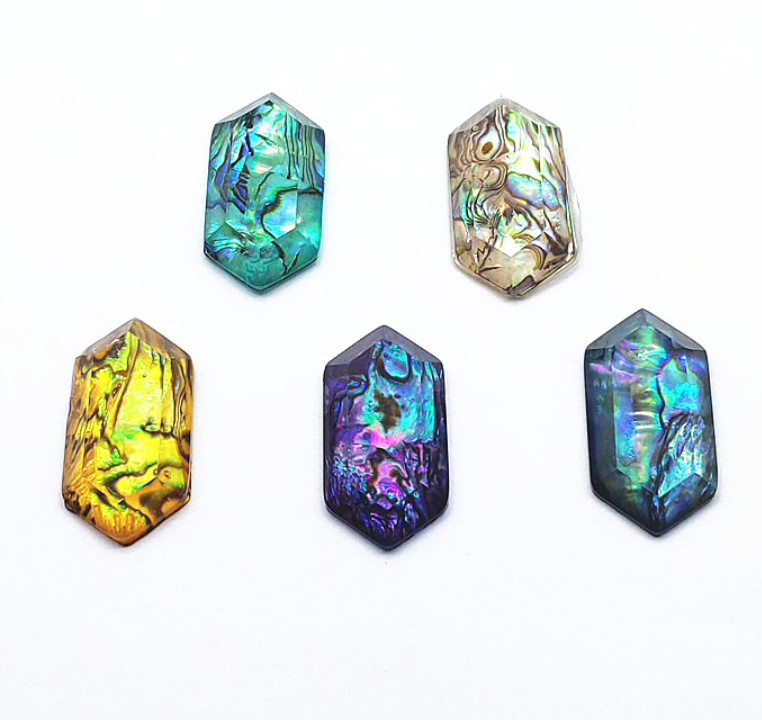Hexagon Abalone Cabochons
